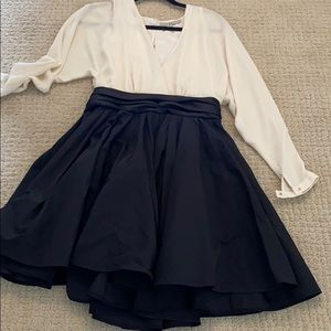 Black and cream cocktail dress